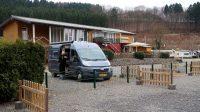 Op de camperplaats van de camping in Wiehl.