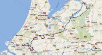 De volledige route naar schiedam en Krimpen.