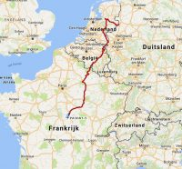 De route van week 1, de afgelopen 4 dagen.
