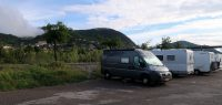 Camperplaats in Digne-les-Bains.