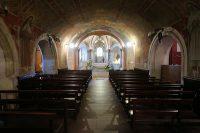 Het gedeelte beneden, aannemlijk het oudste deel van de kerk van voor 1248.