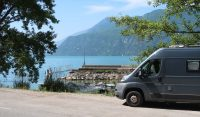 Lunchpauze aan het Lac du Bourget.