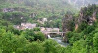 Door de Gorges du Tarn in de Franse Cevennes.