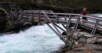Een wild stromende rivier in het Jotunheimen Nationaal Park.