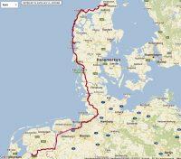 De gereden route van week 1.