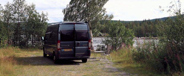 Aan de rivier de Piteälven.