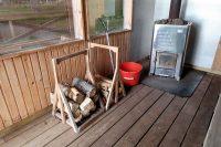 Ik heb wel voldoende hout klaargezet, tijd om de kachel aan te steken!
