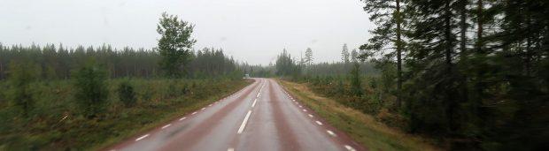 Grijs en veel regen vandaag, onderweg op de E45...