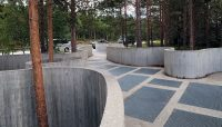 Design-plekken, aangelgd voor een panorama (volgende foto).