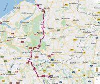 De snelste route van Kampen naar Goch.