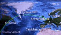 We vliegen de noordelijke route naar het zuiden van de VS.