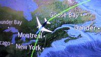 Na Groenland vliegen we over Canada en het noorden van de VS.