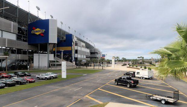 Het beroemde speedwaystadion en autoracecircuit Daytona Beach.