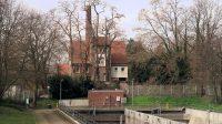 Het 'Altes Wasserwerk Wesel', alleen van een afstandje te bewonderen.