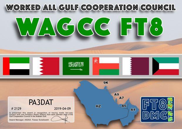 Verbindingen gemaakt met radioamateurs in alle 6 Golfstaten in het Midden-Oosten.