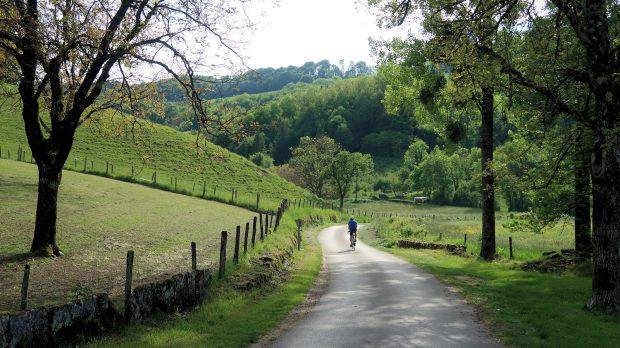 Het prachtig groene en stille dal...