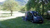 Op de camping in La Motte-Chalancon.