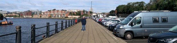 Aan de Tyne in Newcastle.