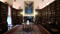 Drum Castle, de bibliotheek.