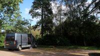 Terug op ons plekje op de camping, nu in de zon!