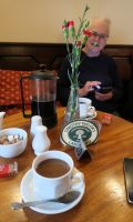 Koffie uit een ouderwetse(?) cafetière.