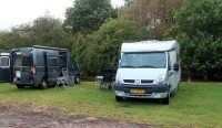 Op de camping in Marston Moretaine.
