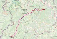 De route van vandaag, op Open Street Map.