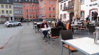 Aan de koffie in Prüm.