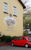 De zijgevel van stoombrouwerij-restaurant DamfE.