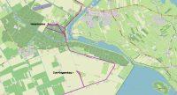 Details van de route naar Oud-Kraggenburg en het Waterloopbos. Tijdens de wnadeling heb ik de tracking laten doorlopen.