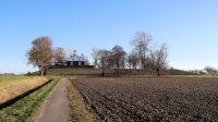 Lichtwachterswoning op het voormalige schiereilandje Kraggenburg in de Zuiderzee.