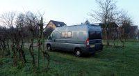 Een vochtige en koude ochtend bij de wijngaarden...