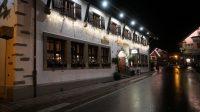 In de straten van Oberstdorf.