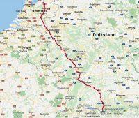 De route Kampen-Oberstdorf.