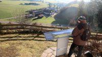 Femma bestudeert het uitzicht...