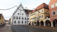 Het Fuggerhaus uit de 15e eeuw. Het lijken wel zaagtanden!