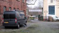 Op de binnenplaats van Dampfe in Borbeck-Essen.