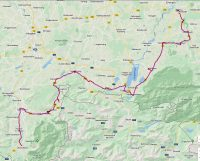 De route van Oberstdorf naar Peiting, 1 januari 2020.