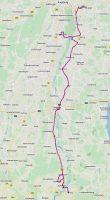 De route van Peiting naar Friedberg.