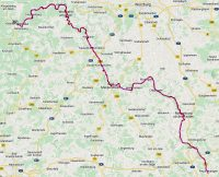 De route van zondag 5 januari 2020.