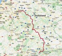 Samenvatting van onze route van de afgelopen week, sinds ons vertrek uit Oberstdorf.
