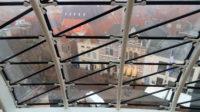 Het uitzicht vanuit de koepel over de historisch Zwolse binnenstad.