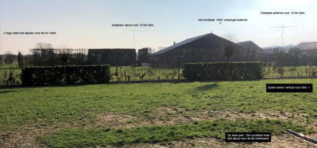 Een overzicht vanaf de achterkant van de camping, circa 100m van de shack.