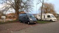 Op de camperplaats in Zutphen.