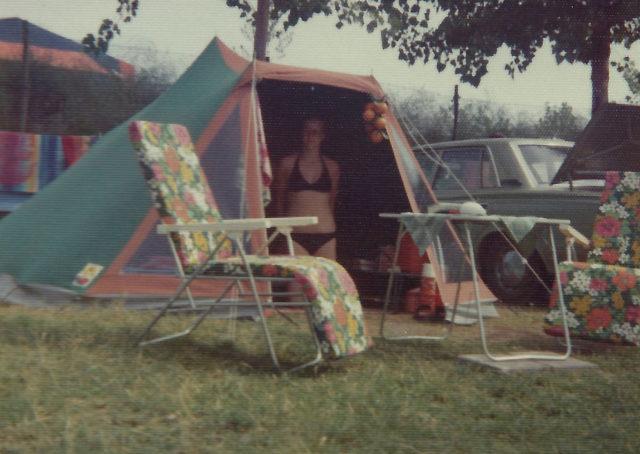 Onze tent op de camping.