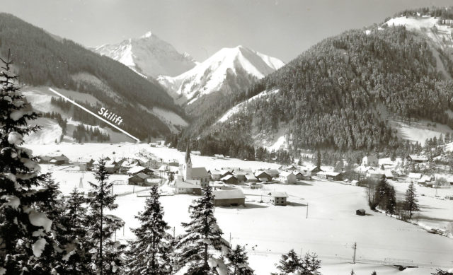 Het dorpje Bichlbach.