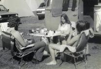 Ontbijten op camping Unterbergiswil am Vierwaltstättersee.