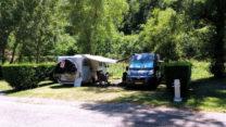 Op de camping in Digne-les-Bains.