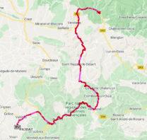 De route van Die, via Rémuzat, Nyons en Valréas naar de wijnboer.