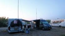Ons kampje met de zendantennes.